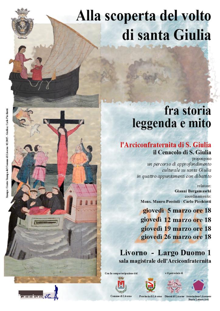 Santa Giulia, seminario Livorno, Seminario su santa Giulia, Arciconfraternita di Livorno